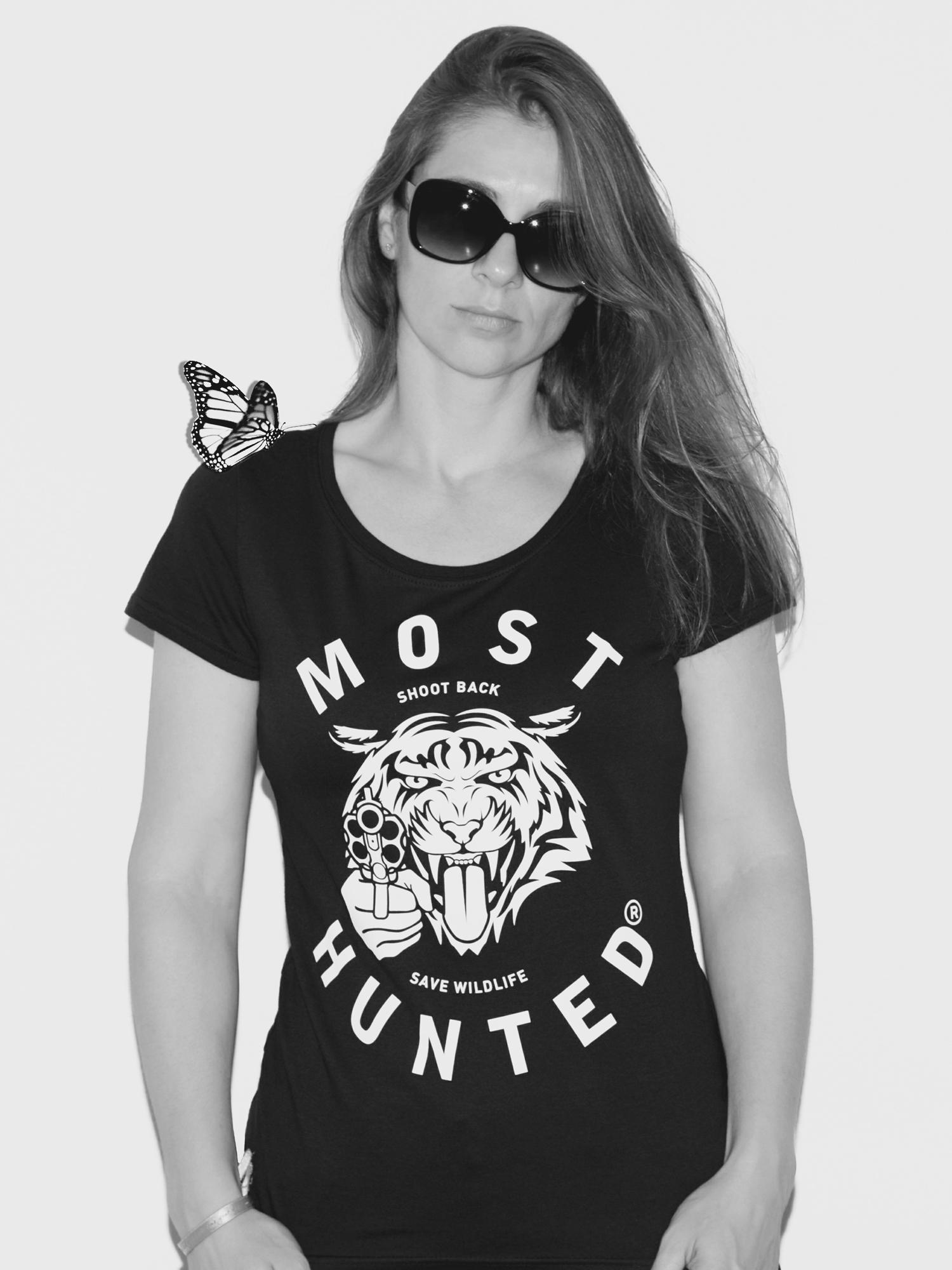 black tiger t shirt women most hunted. Black Bedroom Furniture Sets. Home Design Ideas