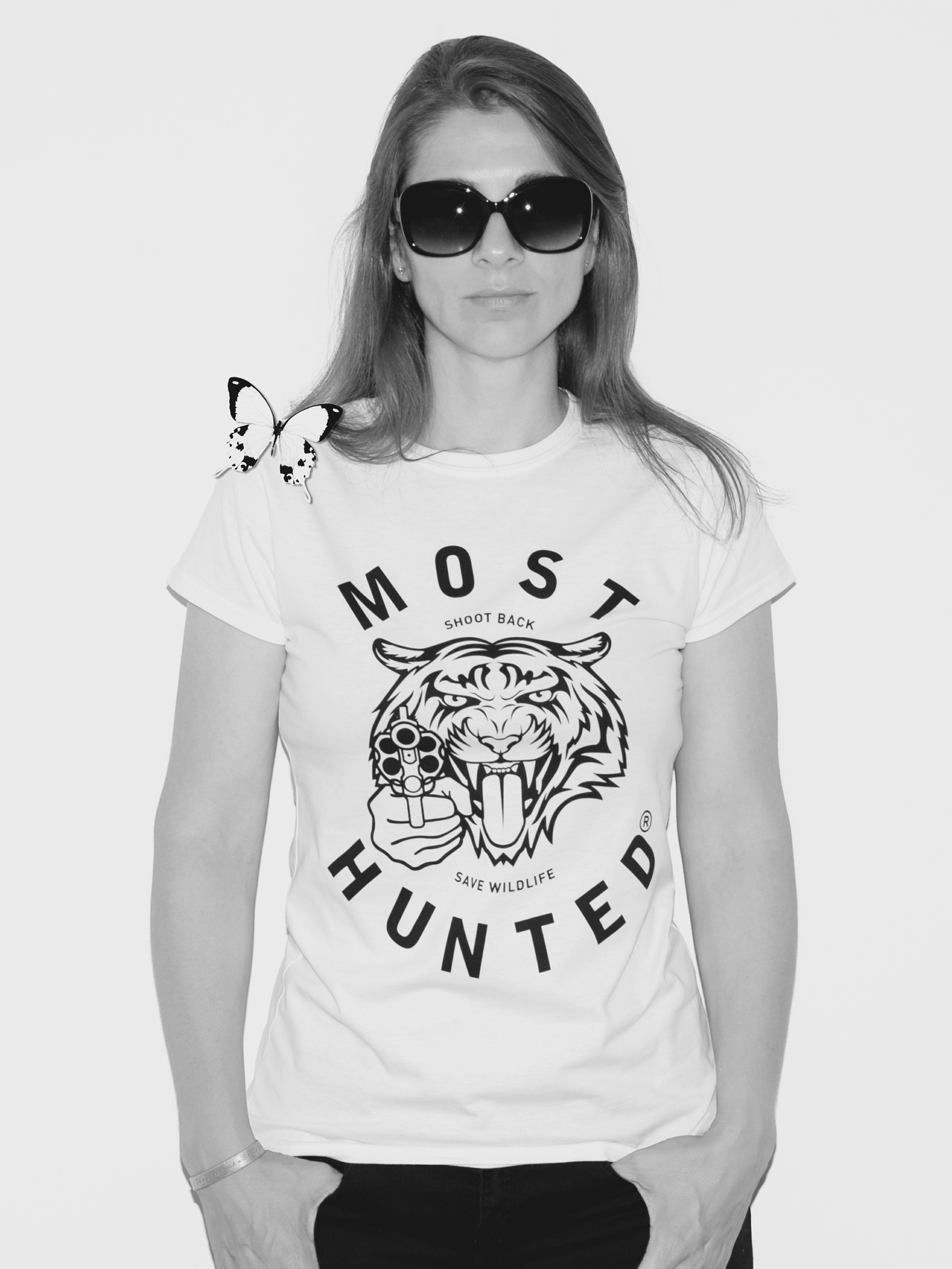 White t shirt for womens - White Tiger T Shirt Women Most_hunted_white_tiger_tee_women_shop