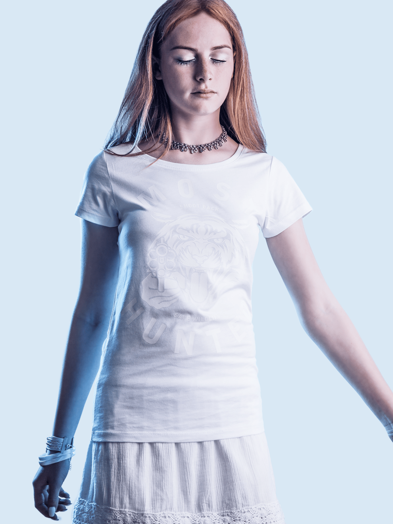 White round neck glow t shirt women most hunted for Round neck t shirts for ladies
