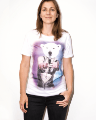 MOST_HUNTED_POLAR_BEAR_T_SHIRT_WOMEN_BODY_SHOP