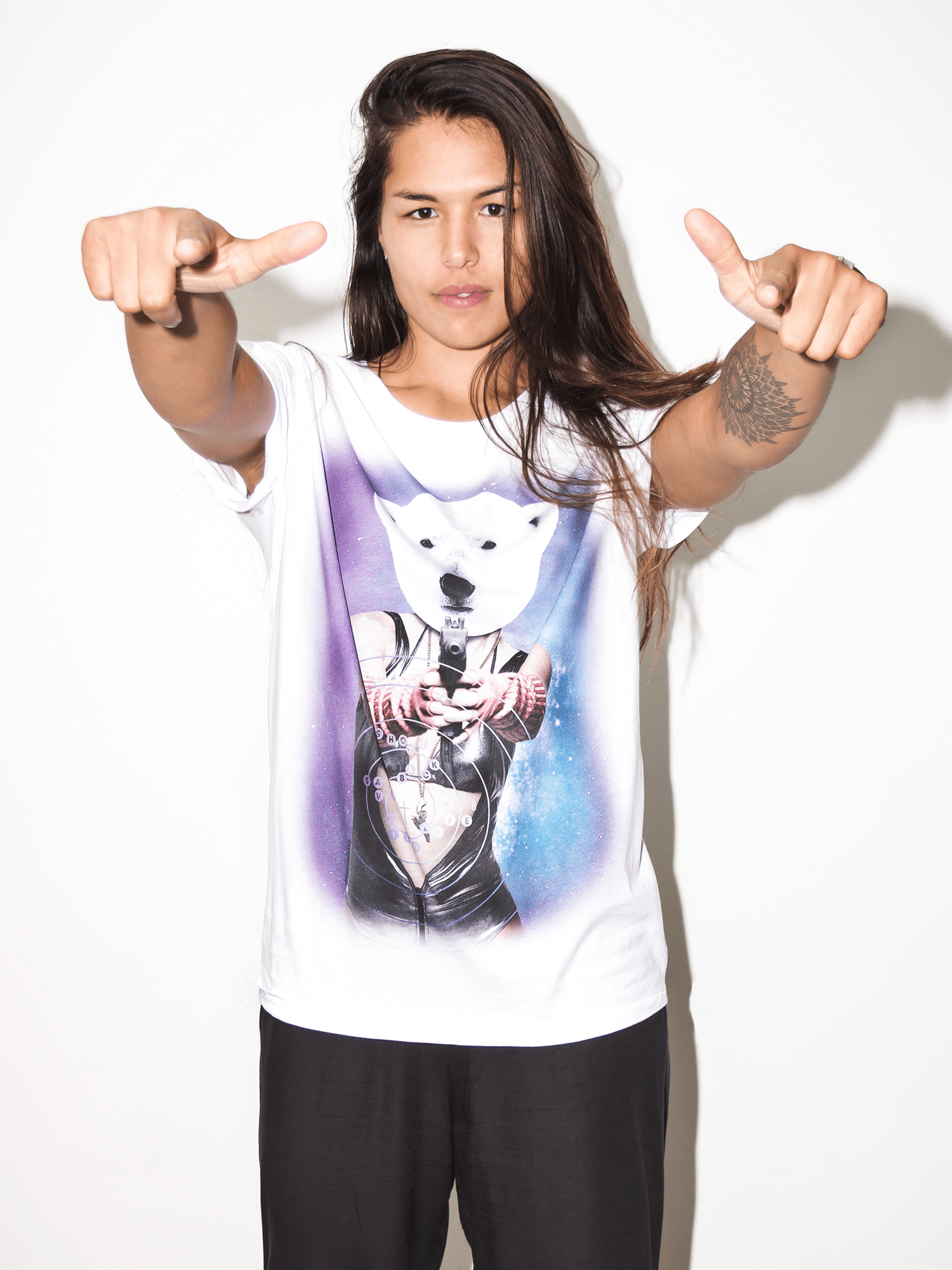 66f83868 €34.95. Stop wildlife killing before it's too late. Shoot back with the MOST  HUNTED Polar Bear T-shirt.