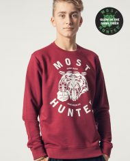 MOST_HUNTED_TIGER_SWEATER_BORDEAUX_GLOW_UNISEX_BODY_SHOP